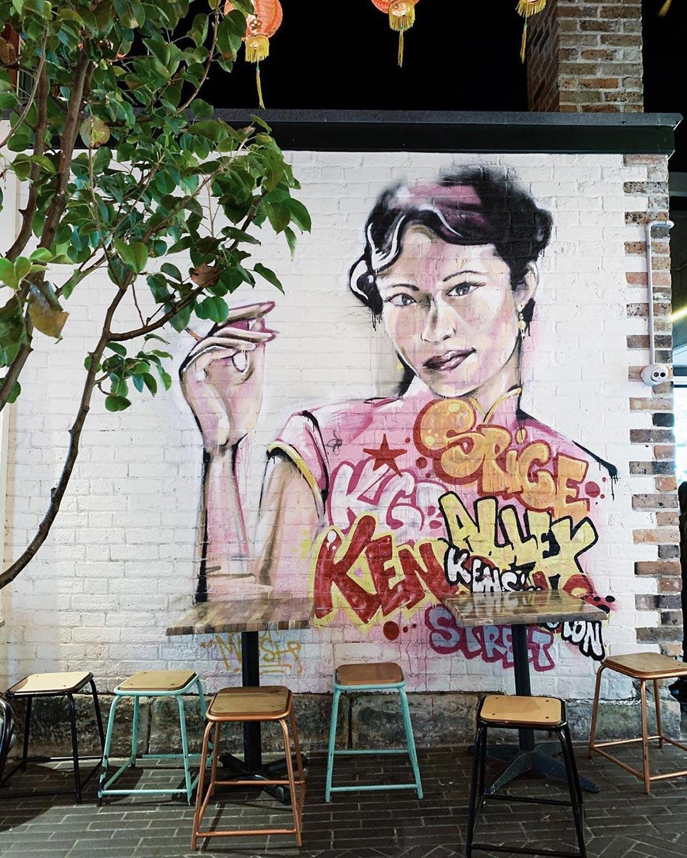 Spice Alley street art mural