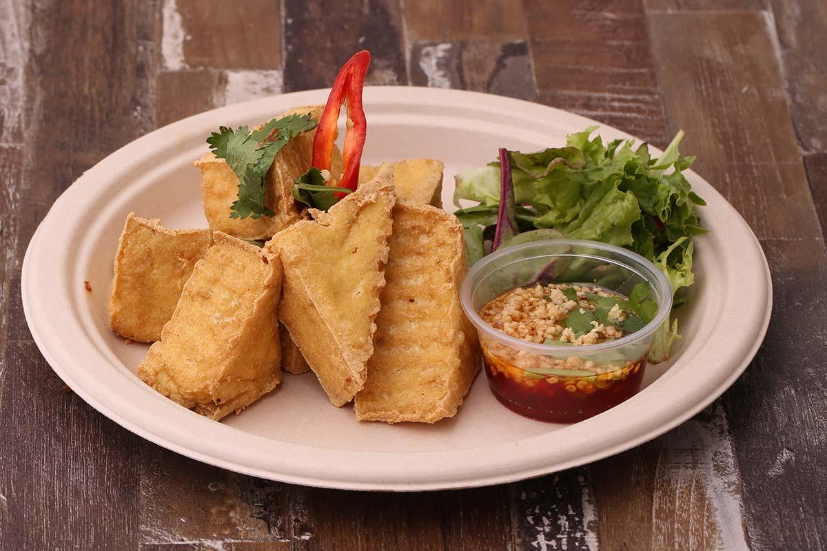 Any Tahu Goreng (Fried Tofu) dish at Warung Bali