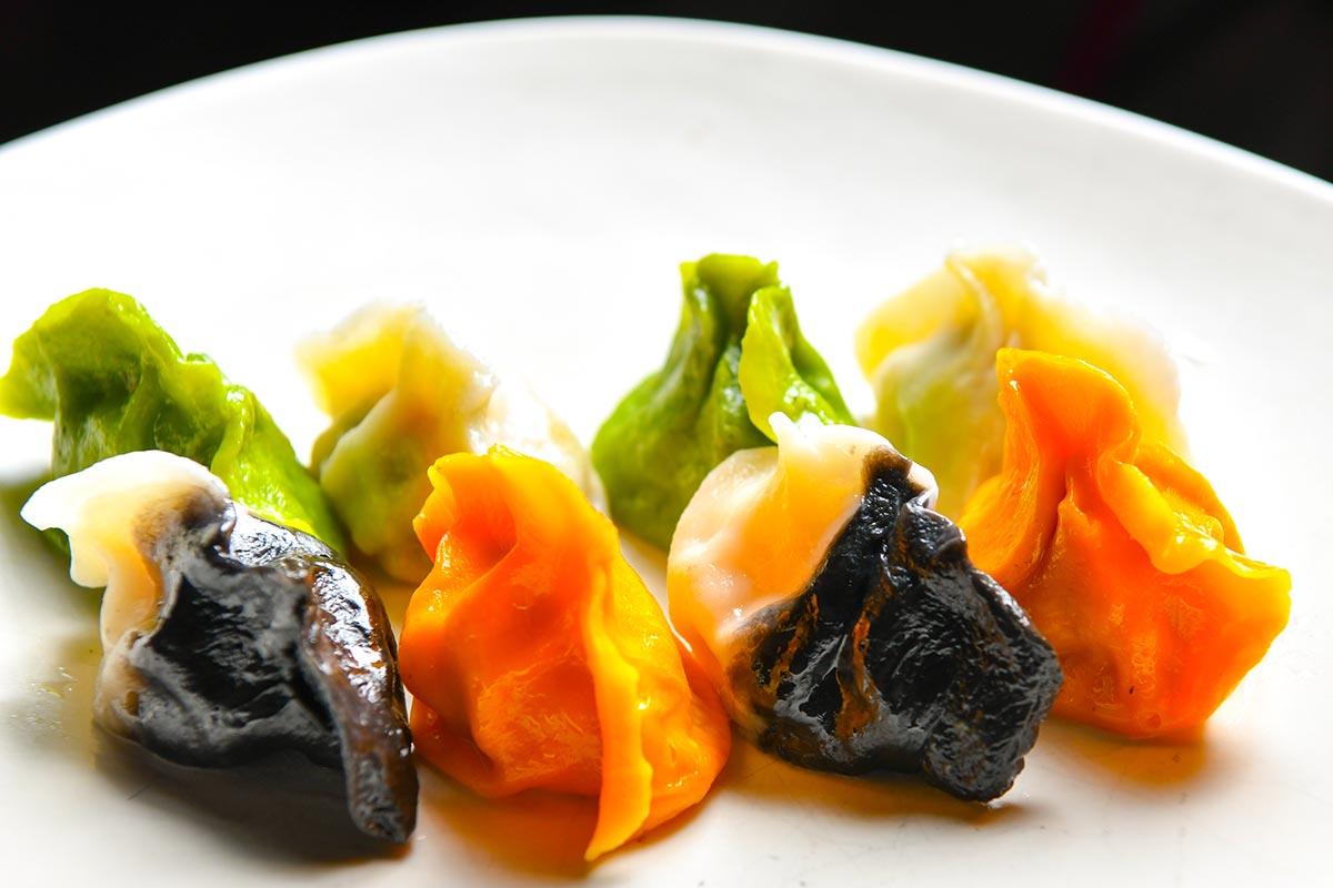 Shanghai Dumpling Bar rainbow dumplings