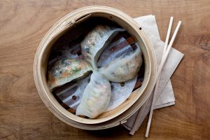 Vegetarian Dumplings at Hong Kong Diner